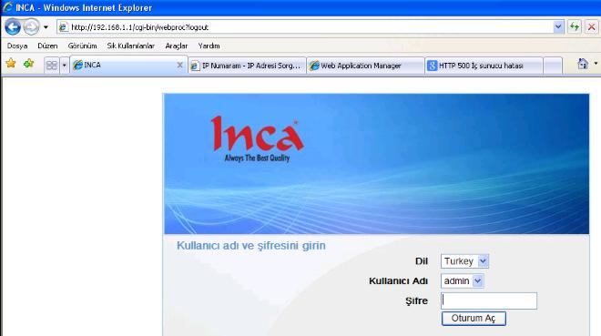 inca_modem_port_açma