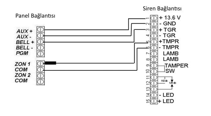 kdt_siren_bağlantı_şeması