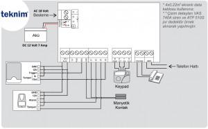 teknim-vap-304-bağlantı-şeması