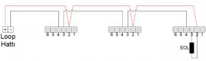 konvansiyonel duman dedektörü bağlantı şeması