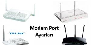 modem port ayarı
