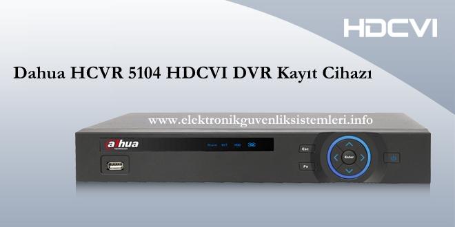 HDCVI 5104 HDCVI Kayıt cihazı