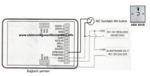 QP-200 Kartlı geçiş bağlantı şeması
