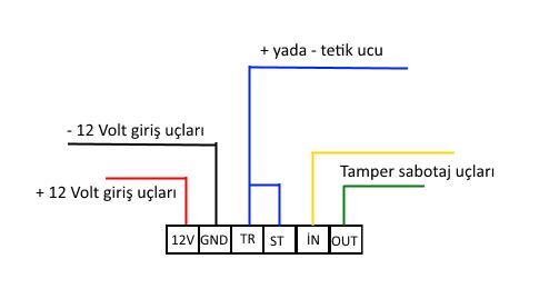 teknim siren bağlantı şeması