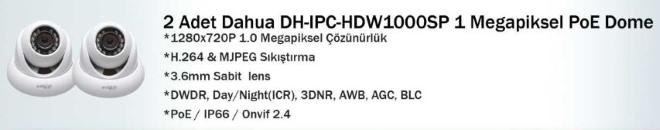 dahua dh-ıpc-hdw1000sp ip kamera