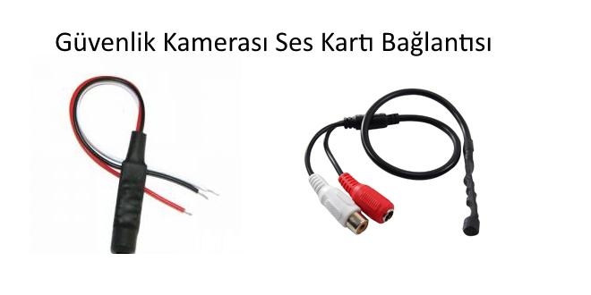 güvenlik kamerası mikrofon bağlantısı