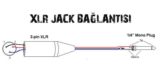 xlr jack soket bağlantısı