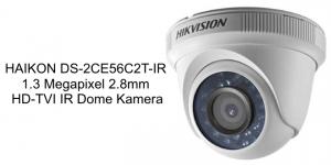 HAIKON DS-2CE56C2T-IR 1.3 Megapixel 2.8mm HD-TVI IR Dome Kamera